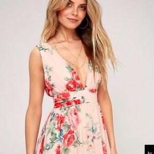 Lulus S Garden Meandering Maxi Dress